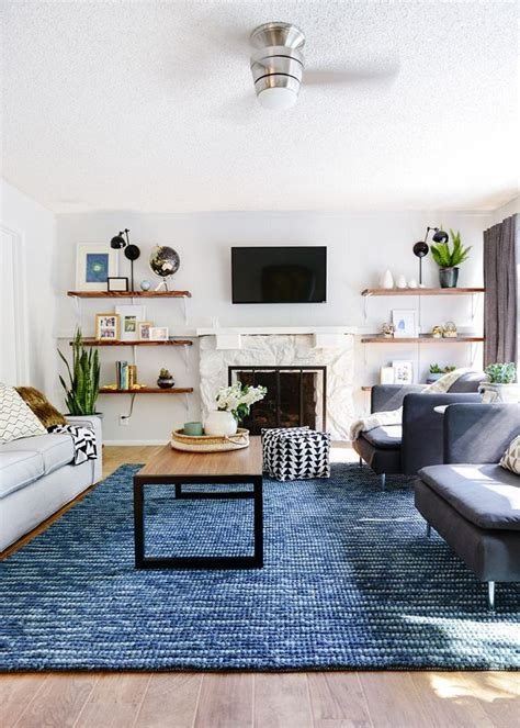 decorative objects for home rugs home decor check out this living room transformation by yellow brick home updated