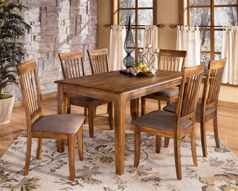 Rectangle Dining Table And Chairs Berringer D199 Rectangular Dining Room Table And 6 Side Chairs