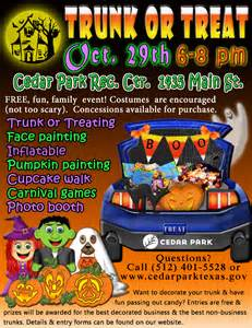 Trunk Or Treat Flyer Template by Trunk Or Treat Hill Country Trail Region