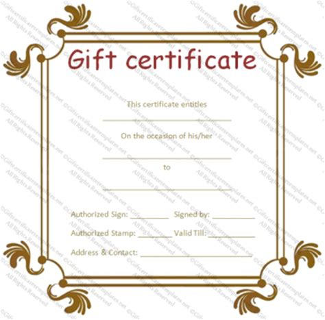 paper gift certificate template gift voucher template gift certificate templates