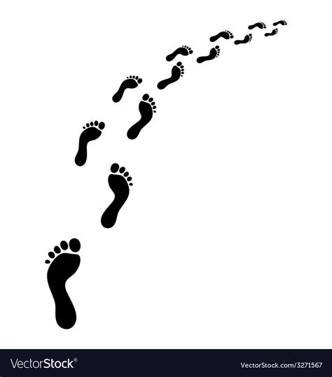 stock images royalty free images vectors footsteps royalty free vector image vectorstock