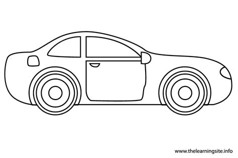 Car Coloring Page Outline | picture of car outline classic car wallpaper hd for boys
