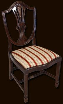 reproduction hepplewhite dining room chairs chair pads cushions