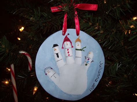christmas handprint ornament christmas pinterest
