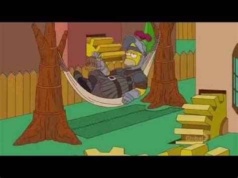 The Simpsons Game Of Thrones Intro Opening Jon Snow Couch