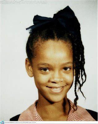 celebrity childhood pics: rihanna baby pics