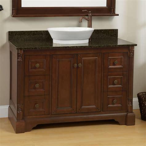 Vessel Sink Vanity Ideas by 48 Quot Walnut Trevett Vessel Sink Vanity Bed And Bath Ideas