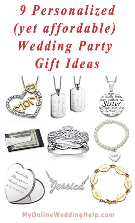 9 Personalized Yet Affordable Wedding Party Gift Ideas
