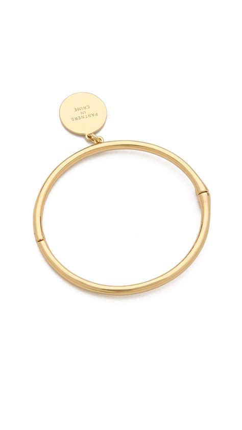 Kate Spade Gold Preloved lyst kate spade new york partners in crime bangle bracelet gold in metallic