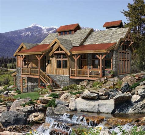 pacific northwest home plans creekside timber home design home pinterest home