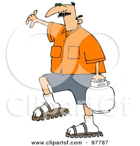 royalty free (rf) clipart illustration of a caucasian man