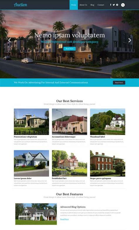 50 Best Real Estate Website Templates Free Premium Freshdesignweb Real Estate Responsive Website Templates Free