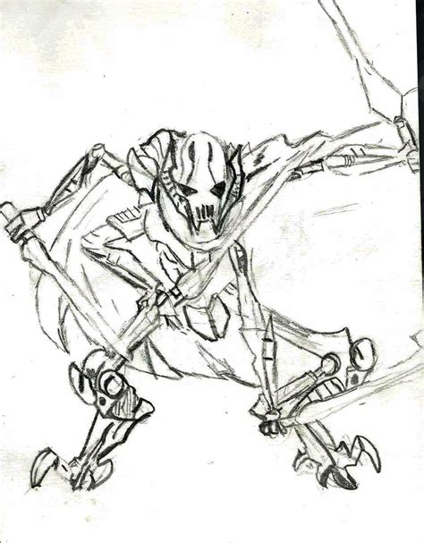 general grievous coloring pages coloring pages