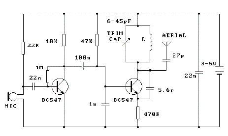 bc547 transistor fm transmitter pc audio to fm transmitter