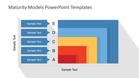 model powerpoint presentation templates flat maturity models powerpoint template slidemodel