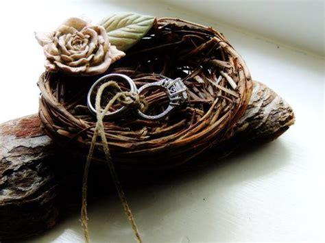birds nest ring bearer pillow alternative wedding ring