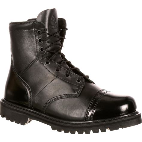 rocky boots rocky duty boots s black side zipper 7 inch jump boot