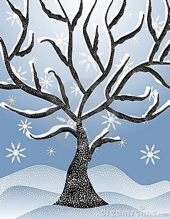 Tree Clipart Winter Pencil And In Color Tree Clipart Winter