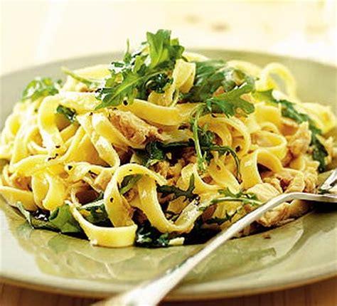Easy Summer Entertaining Recipes - tagliatelle with tuna lemon amp rocket bbc good food