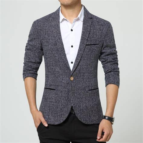 Blazer Jaket Fashion Pria Murah new arrival linen style blazer flax fashion luxury slim fit wedding suit jacket