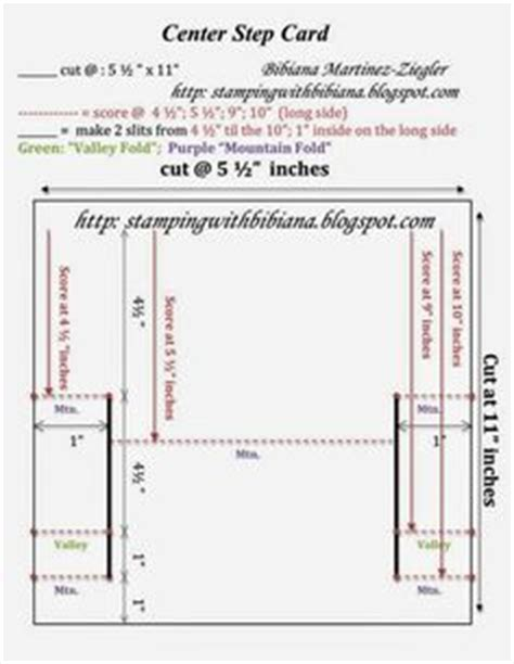 Center Step Card Template by Cards Center Step Side Step On 42 Pins