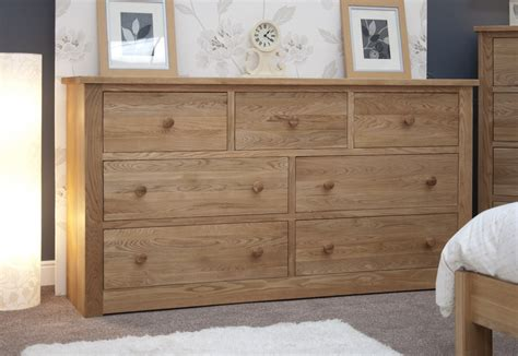 bedroom drawer kingston solid modern oak bedroom furniture deep wide chest of drawers ebay