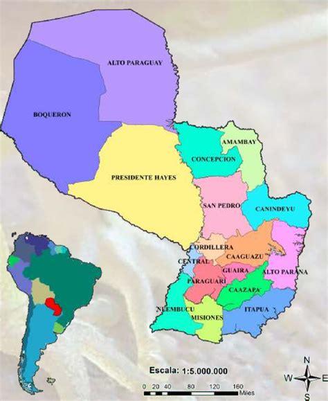 imagenes satelitales paraguay figura 1 mapa pol 237 tico del paraguay scientific diagram