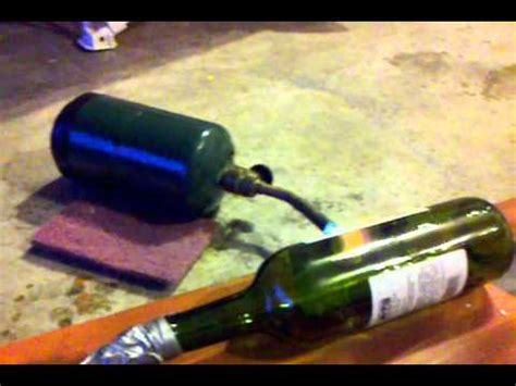 melting glass with a propane torch and a vacuum