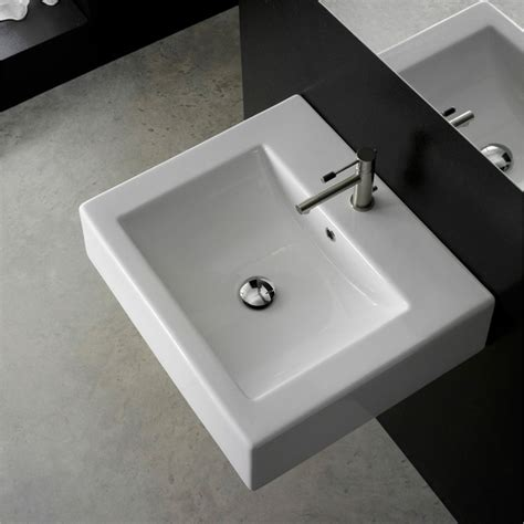 square sink bathroom square wall mounted sink zuri furniture