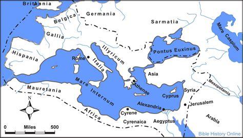 map   roman empire   time  jesus bible