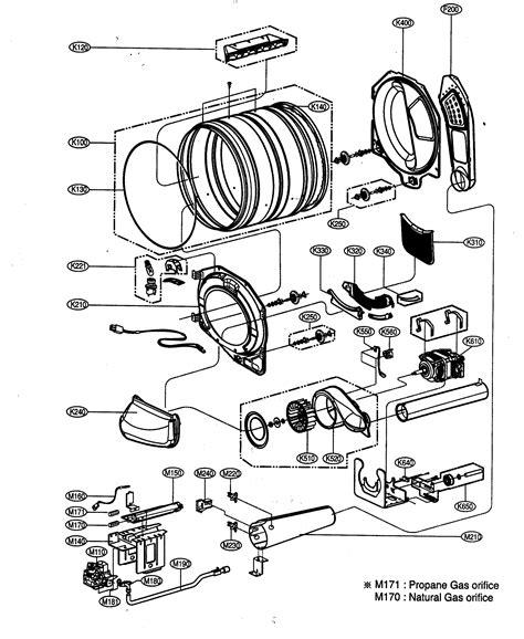 lg dryer parts diagram drum motor assy diagram parts list for model dlg5988w lg