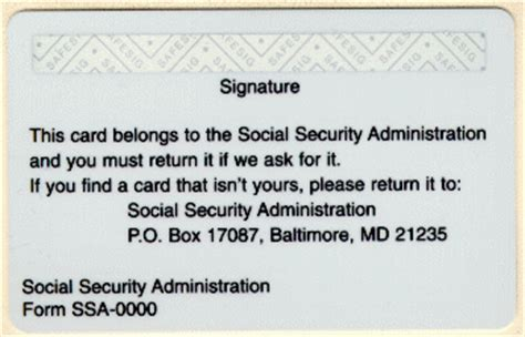 back of social security card template social security history