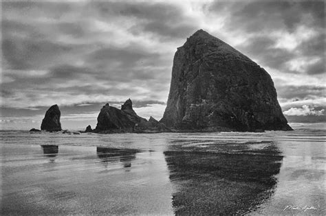 cannon beach haystack rock refection martin spilker