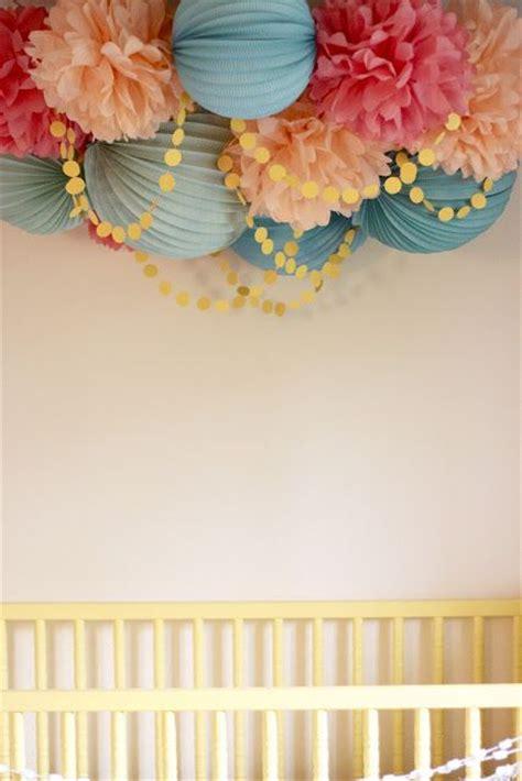 How To Make Ceiling Pom Poms by A Pom Pom Nursery Ceiling Home Ceilings