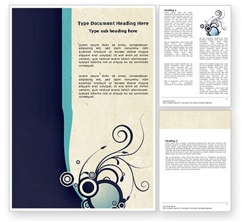 decorative design word template 04938 poweredtemplate com