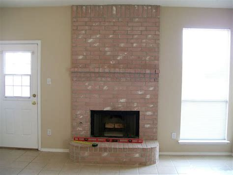 refacing brick fireplace for the home