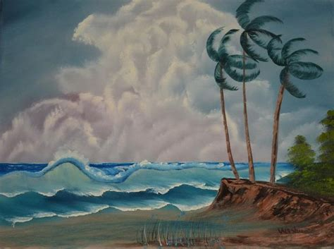 bob ross painting waves bob ross windy waves painting at paintingforsale me