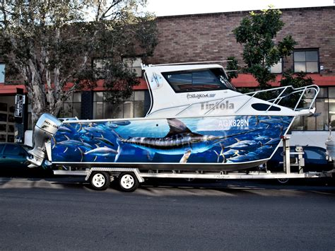 hurricane boats sydney boat wraps in sydney custom graphics