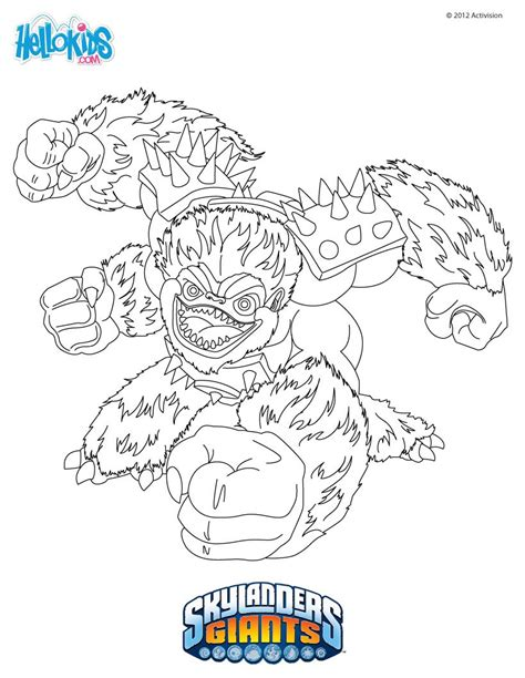 Slambam Coloring Pages Hellokids Com Skylanders Giants Coloring Pages