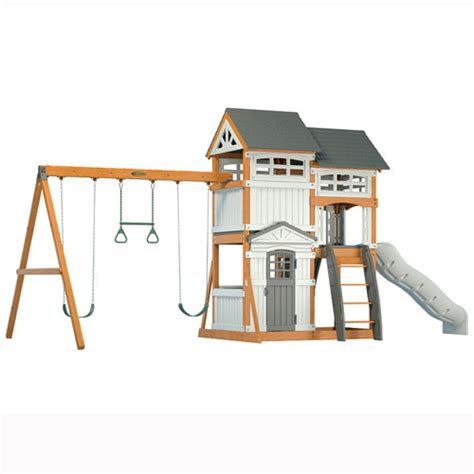 suncast swing set suncast wood and resin swing set walmart com