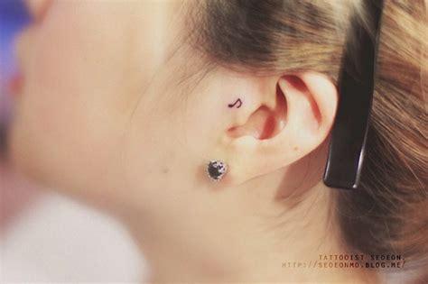 minimalist tattoo ear south korean tattoo artist creates beautiful minimalist