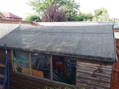 Shed Roof Covering by Re Cover Garden Shed Roof With Felt Area 10ft X 8ft Roofing In Walton On Thames Surrey