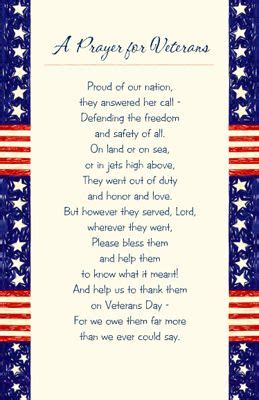 thank you card for veterans word template printable card a prayer for veterans veterans day