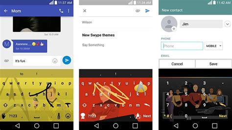 swype keyboard themes android swype update adds emoji keyboard number prediction and