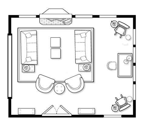 living room conversation layout floorplans that encourage intimate conversation inner