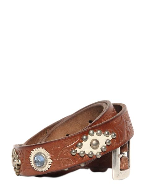 htc trading company western leather belt in