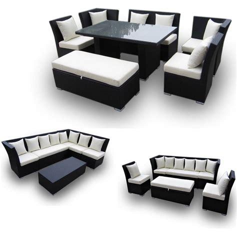 black fabric sofa sets com jamaican 7 piece outdoor patio sectional