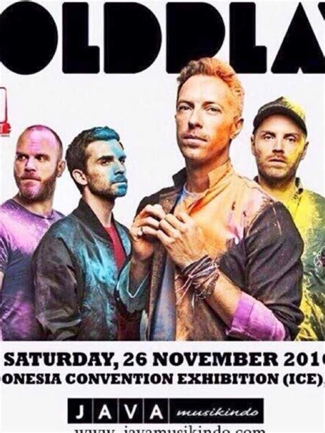 coldplay konser di indonesia benarkah coldplay bakal konser di indonesia showbiz