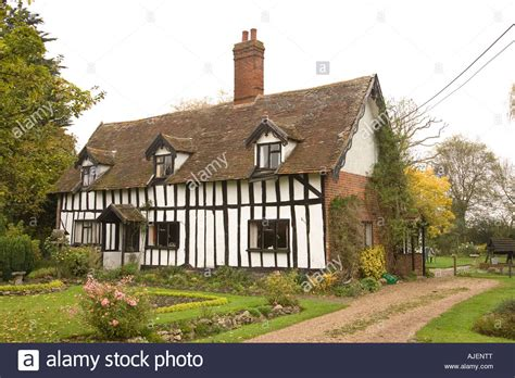 tudor style cottage an tudor style timber framed cottage in a suffolk