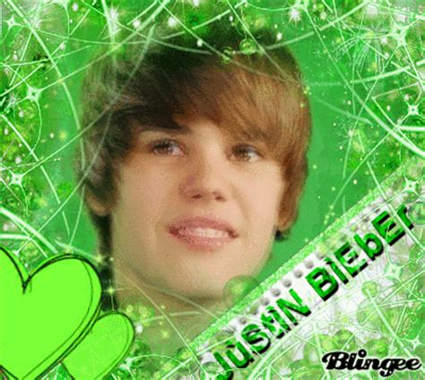 justin bieber in green my favourite color picture